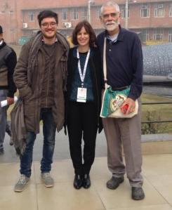 Jim con Leonardo Caffo e Valentina Sonzogni