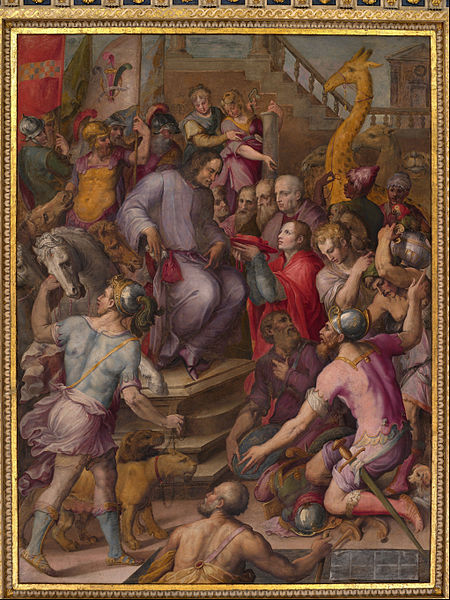 450px-Giorgio_Vasari_-_Lorenzo_the_Magnificent_receives_the_tribute_of_the_ambassadors_-_Google_Art_Project.jpg